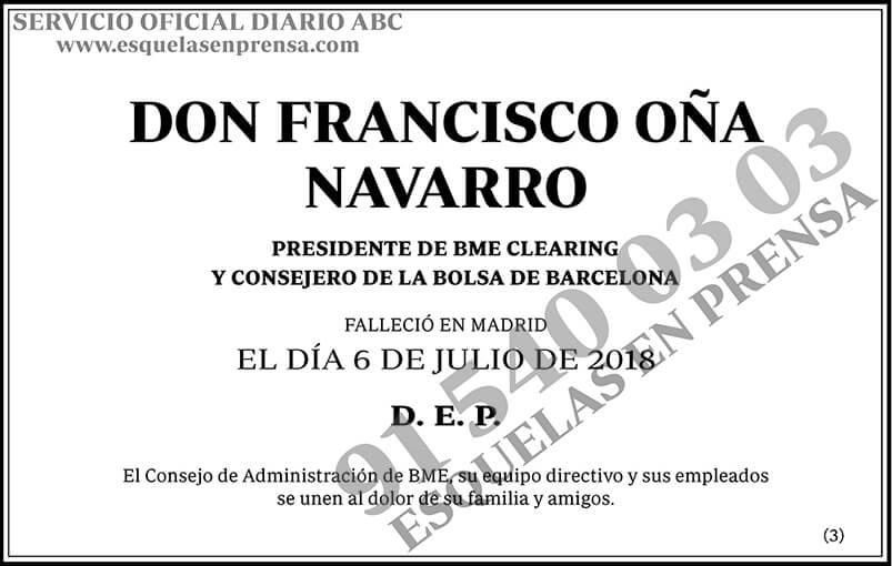 Francisco Oña Navarro